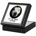 IT'S ALL ABOUT ATTITUDE (PIT BULL FACE) Tile Box