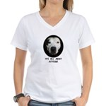 IT'S ALL ABOUT ATTITUDE (PIT BULL FACE) Women's V-