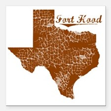"Fort Hood, Texas (Search Square Car Magnet 3"" x 3"""