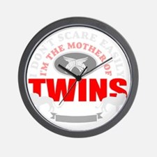 Brave mother of twins Wall Clock