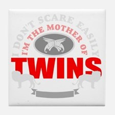Brave mother of twins Tile Coaster