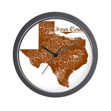 Four Corners, Texas (Search Any City!) Wall Clock