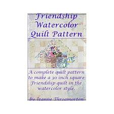 Friendship Water Color Quilt Patt Rectangle Magnet