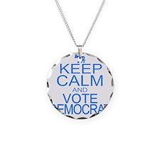 keepCALM-dem-blue Necklace