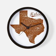 Helena, Texas (Search Any City!) Wall Clock