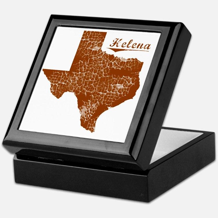 Helena, Texas (Search Any City!) Keepsake Box
