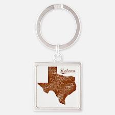 Helena, Texas (Search Any City!) Square Keychain