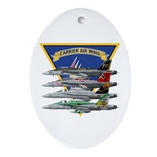 Carrier Air Wing FIVE Oval Ornament