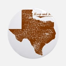 Hoop and Holler, Texas. Vintage Round Ornament