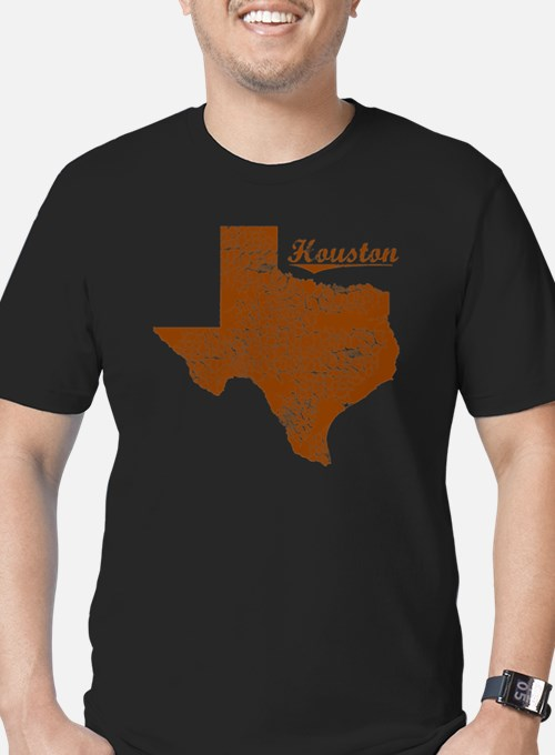 Houston, Texas (Search Men's Fitted T-Shirt (dark)