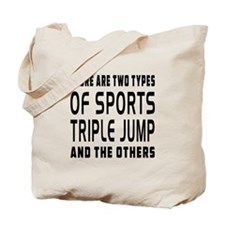 Triple jump Designs Tote Bag