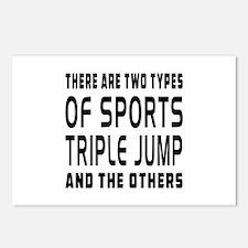 Triple jump Designs Postcards (Package of 8)