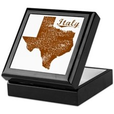 Italy, Texas (Search Any City!) Keepsake Box