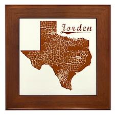 Jorden, Texas (Search Any City!) Framed Tile