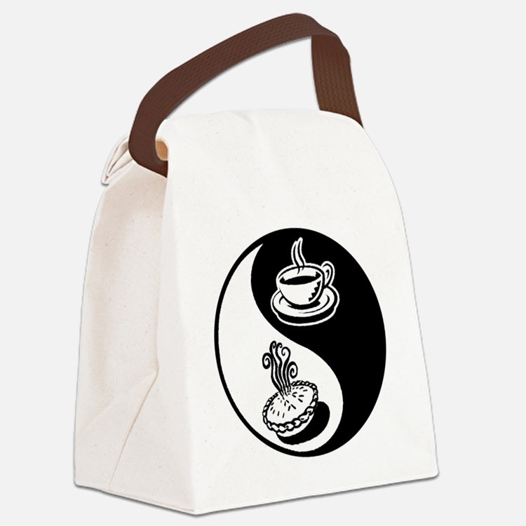 Pie and Coffee Yin Yang Canvas Lunch Bag