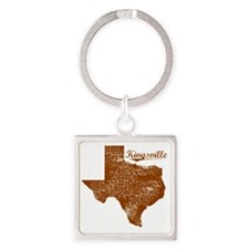Kingsville, Texas (Search Any City Square Keychain
