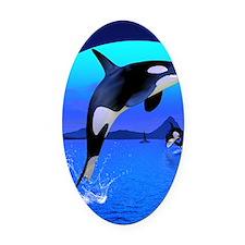 orca_twin_duvet Oval Car Magnet
