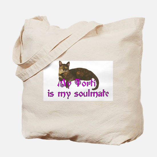 Tortie Love Tote Bag