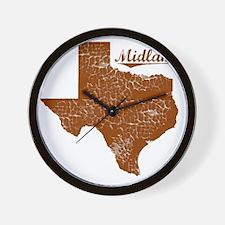 Midland, Texas (Search Any City!) Wall Clock