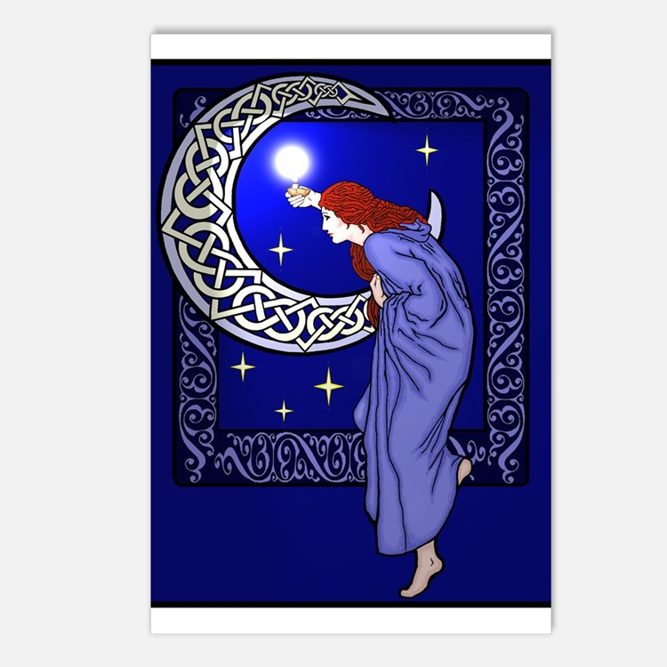 Celtic Moon Woman Postcards (Package of 8)