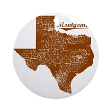 Montgomery, Texas (Search Any City! Round Ornament