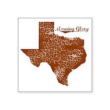 "Morning Glory, Texas. Vinta Square Sticker 3"" x 3"""