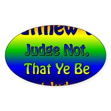 JudgeNotTray Decal