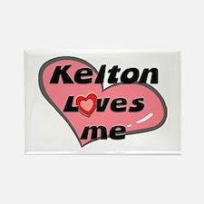 kelton loves me Rectangle Magnet