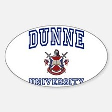 DUNNE University Oval Decal