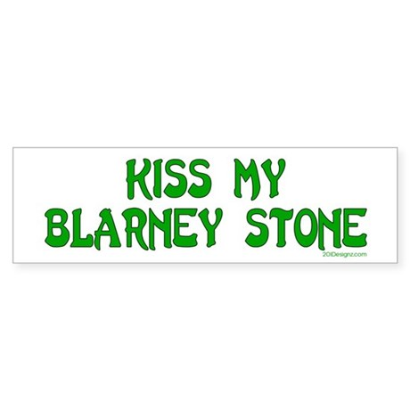 Kiss My Blarney Bumper Sticker