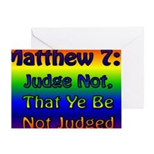JudgeNotBanner Greeting Card