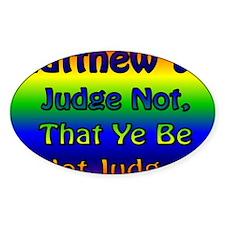 JudgeNotBanner Decal