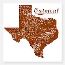 "Oatmeal, Texas (Search A Square Car Magnet 3"" x 3"""