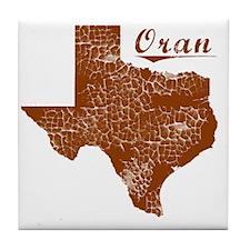 Oran, Texas (Search Any City!) Tile Coaster