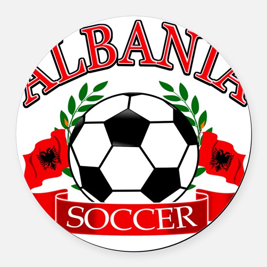 albania soccer designs Round Car Magnet