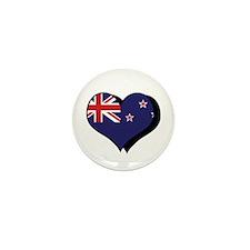 I Love New Zealand Mini Button (100 pack)