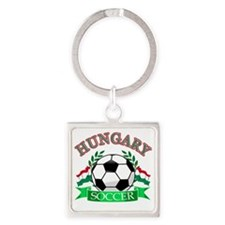 Hungarian soccer designs Square Keychain