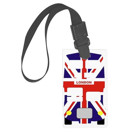 Union Jack London Bus Large Luggage Tag