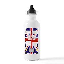 Union Jack London Bus Water Bottle