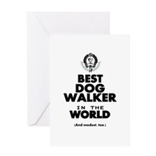 The Best in the World – Dog Walker Greeting Cards