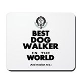 Dog walker Mouse Pads