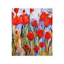 Red Tulip Razzle Dazzle Bathroom Throw Blanket