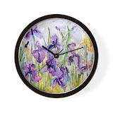 Purple iris Wall Clocks