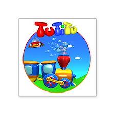 """TuTiTu Train bubbles 2 Square Sticker 3"""" x 3"""""""