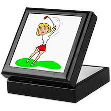 libby golf Keepsake Box