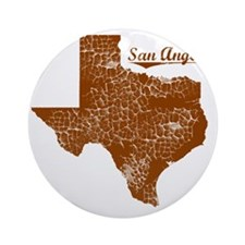 San Angelo, Texas (Search Any City! Round Ornament