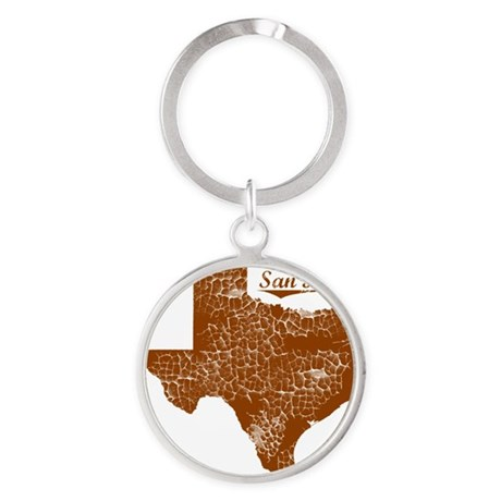 San Benito, Texas (Search Any City! Round Keychain