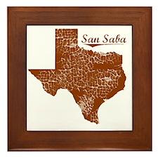 San Saba, Texas (Search Any City!) Framed Tile