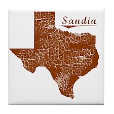 Sandia, Texas (Search Any City!) Tile Coaster