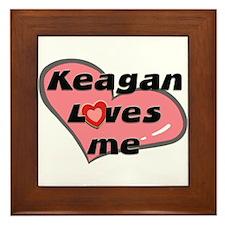 keagan loves me  Framed Tile